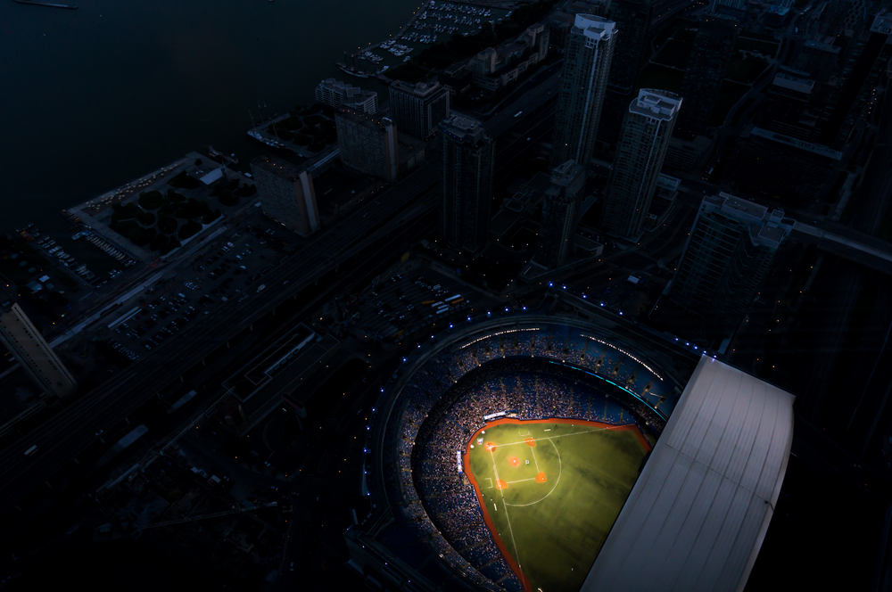 Rogers Center from Sky at Night ©Photolex Photography / Shutterstock