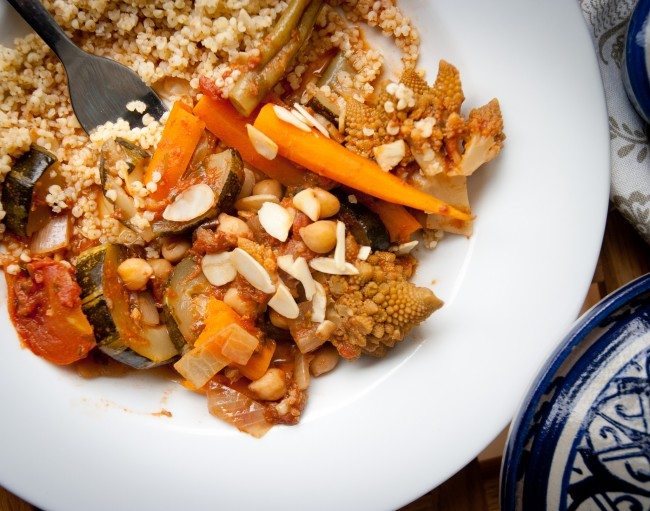 Vegetable Tagine with Cous-Cous © Monica Shaw