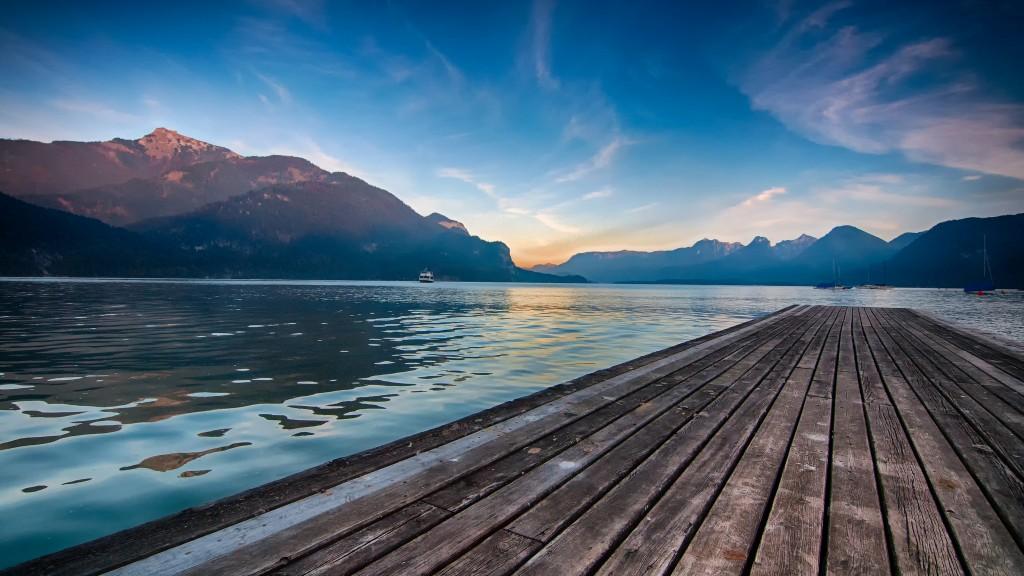 A quiet dock in St Gilgen Austria © Mendhak