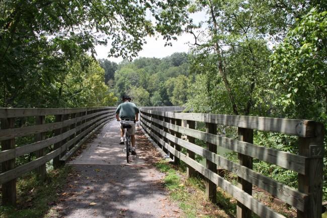 Virginia Creeper Trail between Damascas and Abingdon | ©Eli Christman/Flickr
