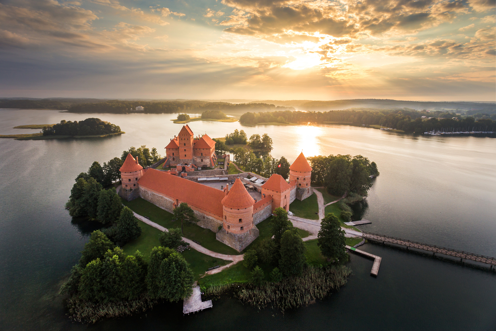 Trakai from above | © Kanuman/Shutterstock