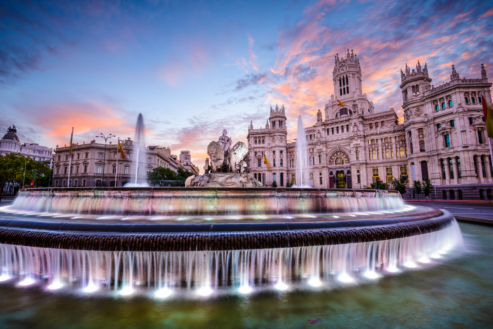 Madrid, Spain at Plaza de Cibeles | © ESB Professional/Shutterstock