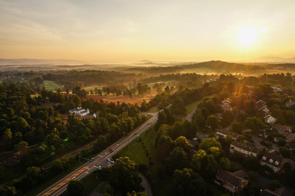 Sunrise in Charlottesville, Virginia ©Bram Reusen / Shutterstock