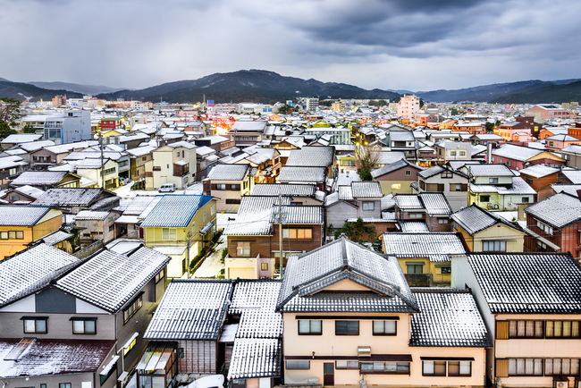 Wajima City под одеялом снега  loverme