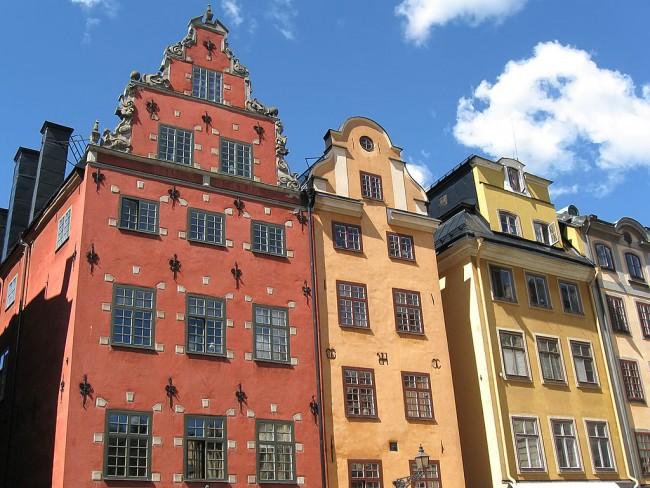 Buildings in Gamla Stan, Stockholm | © Olof Senestam/WikiCommons