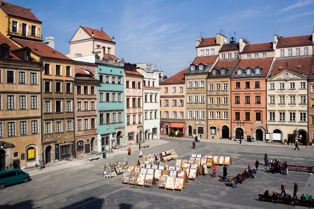 Center of Warsaw's old town on a beautiful sunny day | © Dmytro Hurnytskiy/Shutterstock