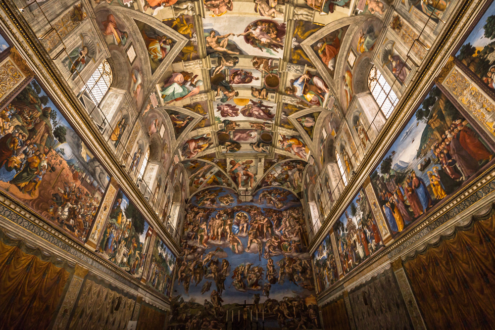 Ceiling of the Sistine chapel in the Vatican Museu, Vatican City |©RPBaiao / Shutterstock
