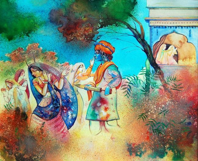 Artistic impression of Holi Khele Nandlala   © Biswajit Das/Flickr