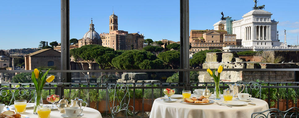 10 panoramic restaurants in rome for Roof garden milano