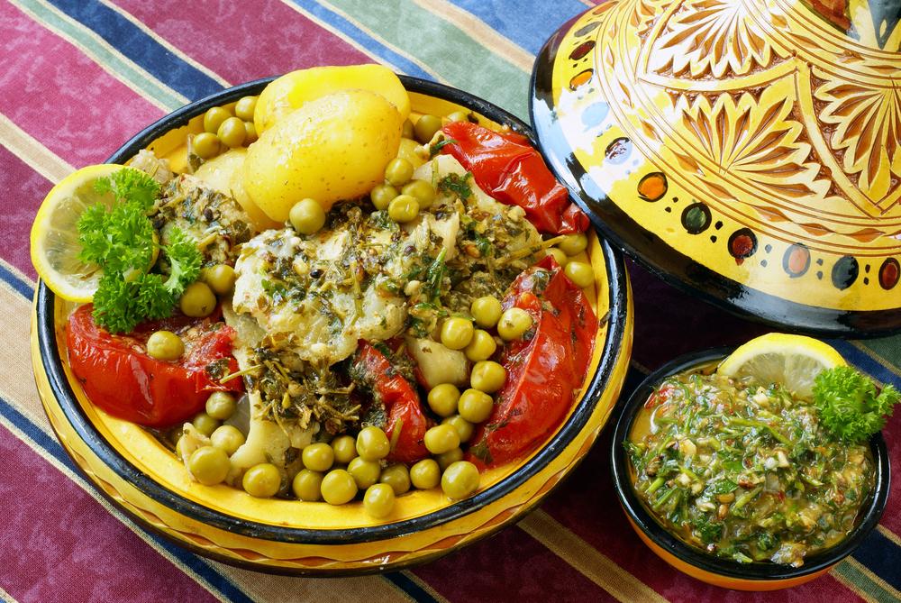 Moroccan chermoula fish tajine   © Elzbieta Sekowska/Shutterstock