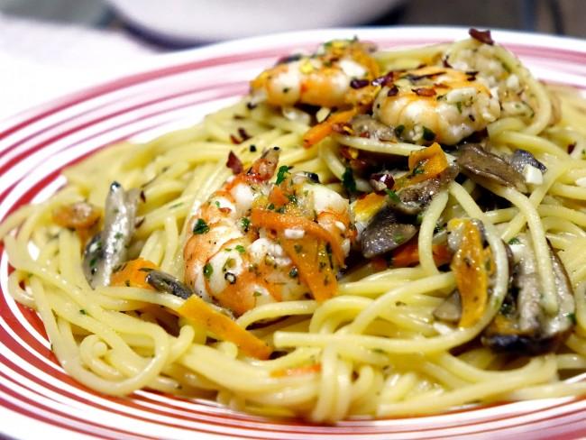 Example of Prawn Spaghetti | © cegoh/Pixabay