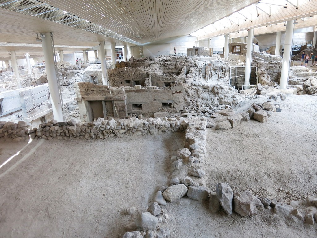 Akrotiri Excavations Archaeological Site, Santorini, Greece © IZZARD / Shutterstock