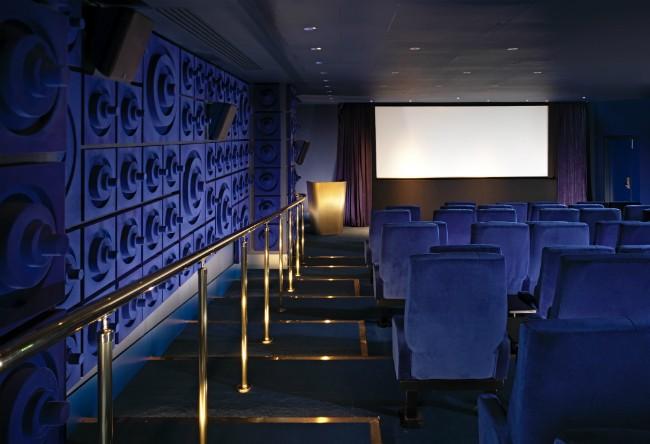 Screening Room | Courtesy of Mondrian Hotel London
