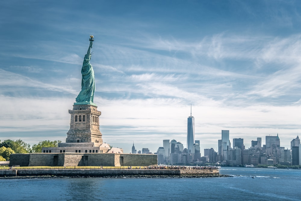 The statue of Liberty and Manhattan, New York City, USA | © spyarm/Shutterstock