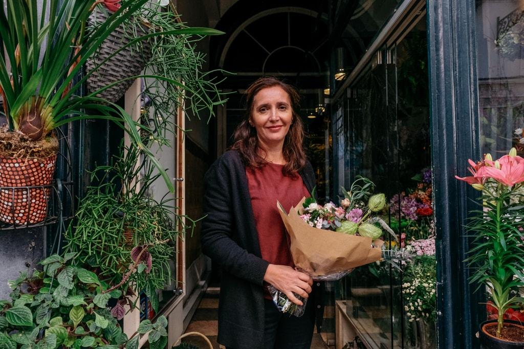 Watson - Portugal - Lisbon - Elisabete Monteiro, owner of Pequeno Jardim flower shop in Chiado