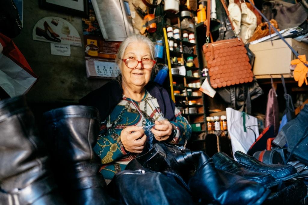Watson - Portugal - Lisbon - Shoe repairer Florinda Moreira at Oficina Flor da Graça, Graça
