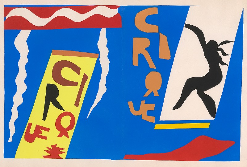 Henri Matisse (1869–1954), Circus, pochoir, plate II in Jazz (1947). Courtesy of Frances and Michael Baylson   © 2015 Succession H. Matisse / Artists Rights Society (ARS), New York. Photography by Graham S. Haber, 2015.