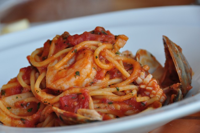 Seafood Pasta © Mabel Lu