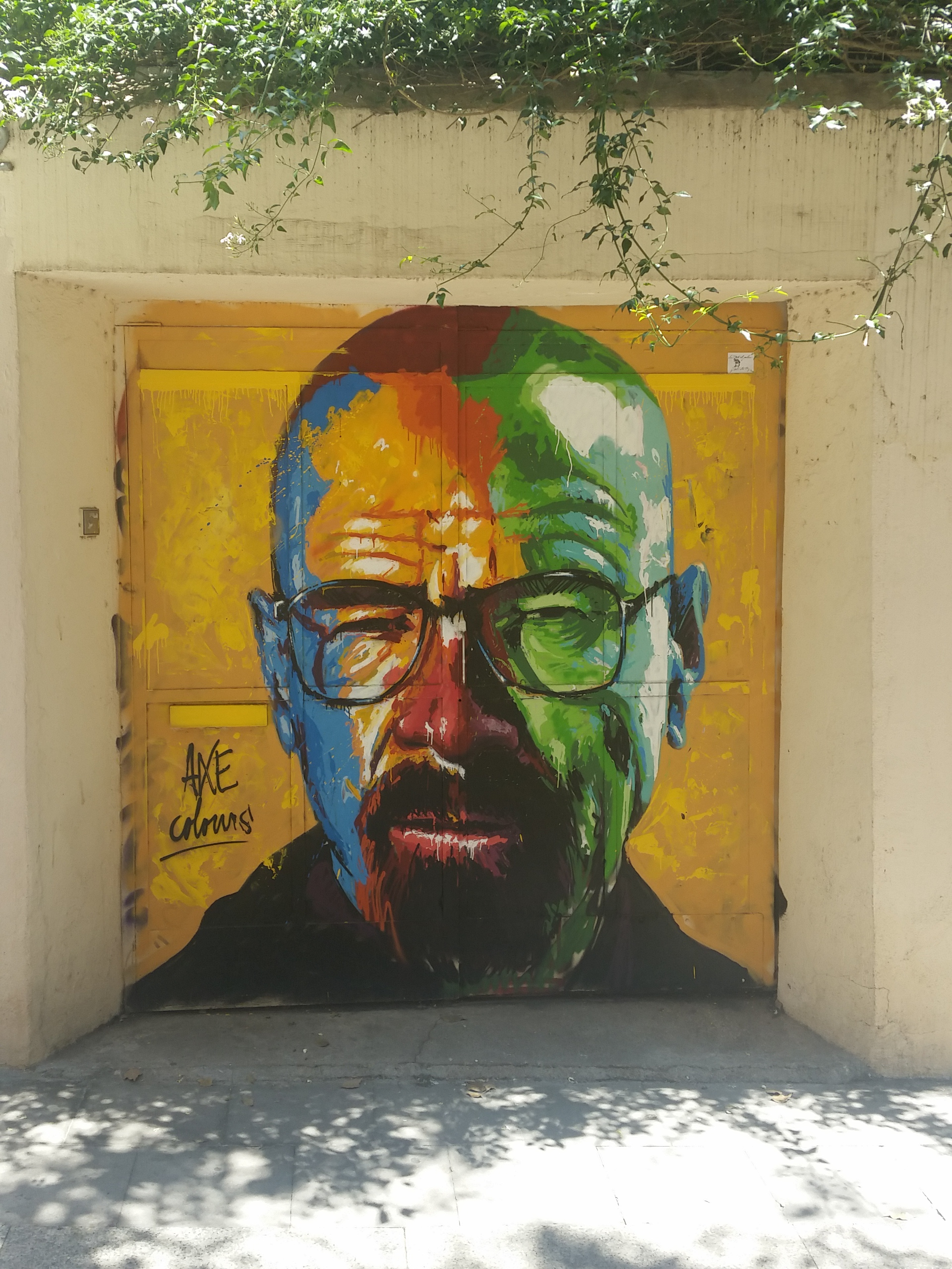 A little Breaking Bad themed street art | Courtesy of Brian Reedy