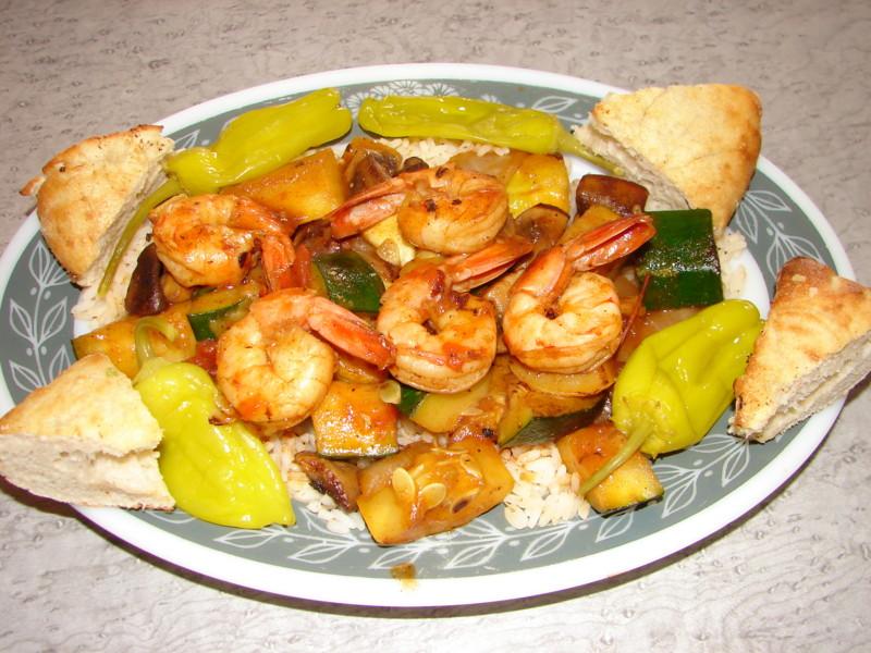 Shrimp Kabob over Rice_5-31-08   © Jim Brickett/Flickr