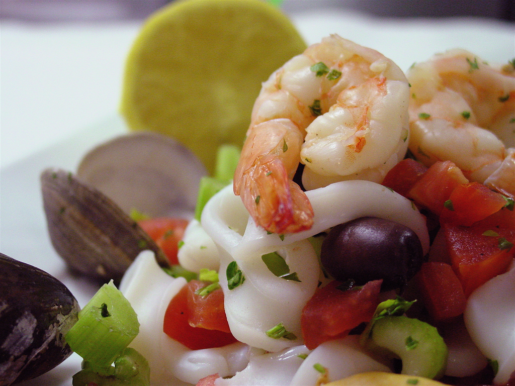 Seafood Salad   © Larry Hoffman/Flickr