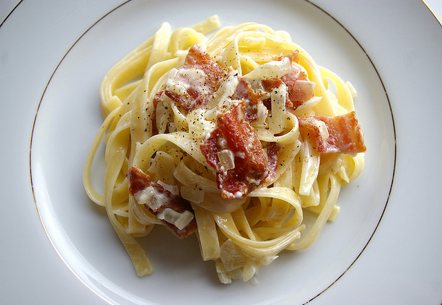 Pasta Carbonara | © Gwendolyn Richards/ Flickr