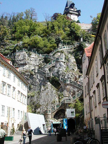 Schlossberg steps/©Jean François Riemer/wikicommons