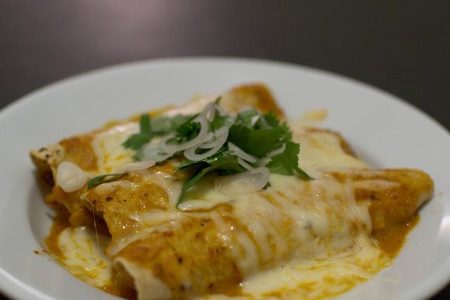 Green Chile Chicken Enchiladas © Steve Dunham/Flickr