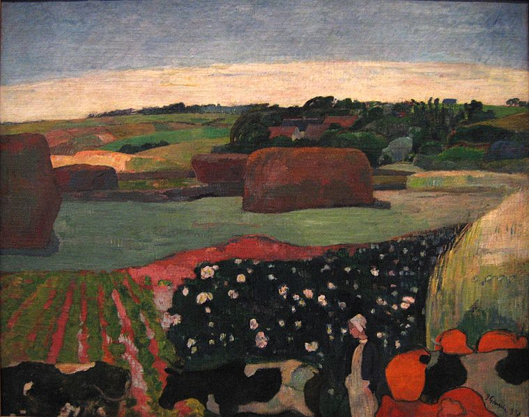 759px-Paul_Gauguin_-_Haystacks_in_Brittany