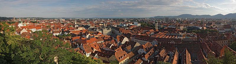 Panoramic view of Graz/©Matthew Field/wikicommons
