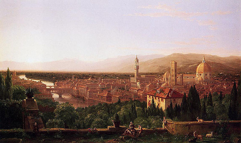 Cole Thomas View of Florence from San Miniato 1837 | © Unknown/WikiCommons