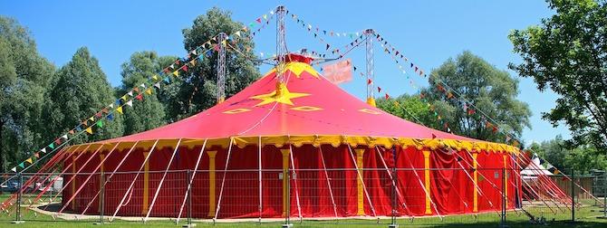 A circus tent | © Pixabay