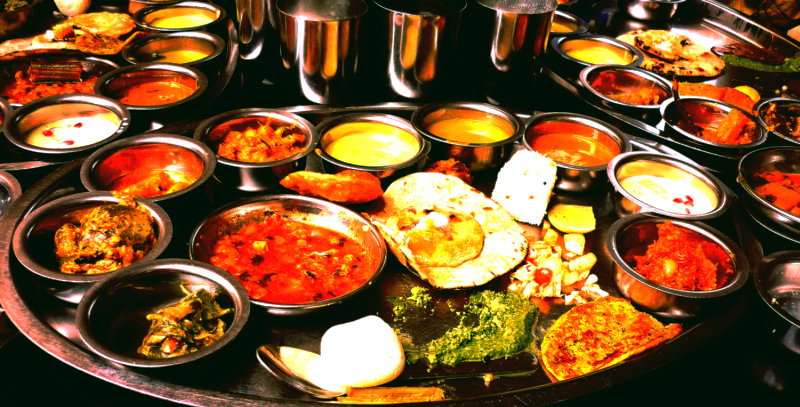 A Typical Indian Thali | © Pravin Menon/WikiCommons