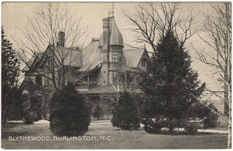 Old postcard of Blythewood, an old mansion now destroyed | © The American News Company, New York/WikiCommons