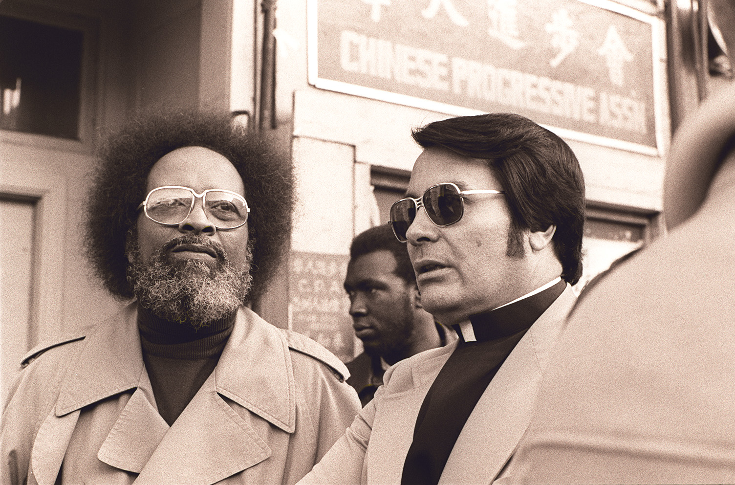 1977 — Rev. Cecil Williams at San Francisco eviction protest | © Nancy Wong/WikiCommons
