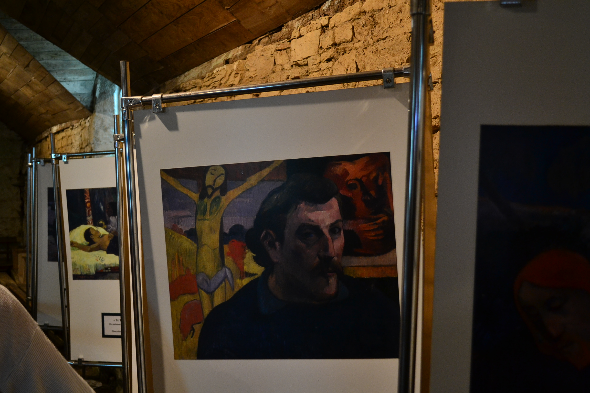 Paul Gauguin Paintings in Pont-Aven church | © Hristos Fleturis