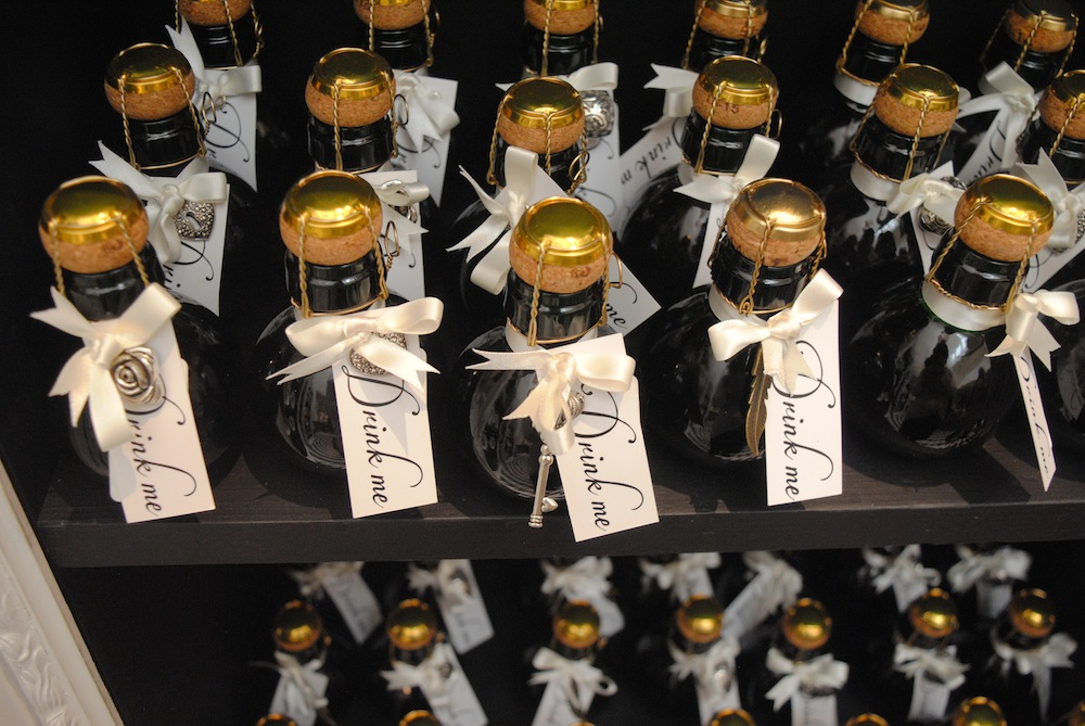 Small wine bottles on sale at pop-up store | Courtesy of Alyssa Erspamer