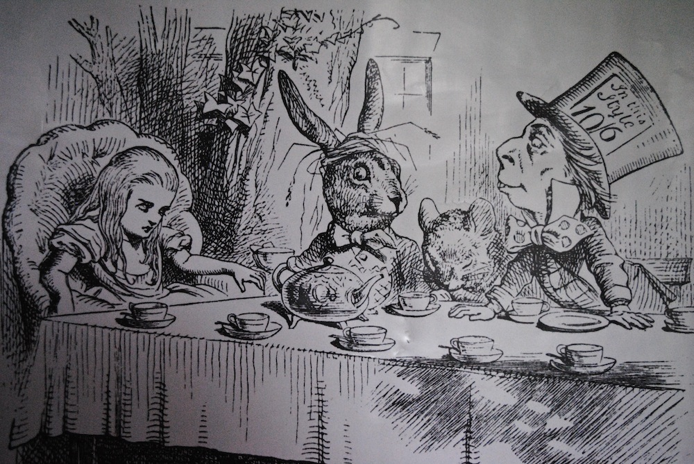 Poster of one of Tenniel's iconic images | Courtesy of Alyssa Erspamer