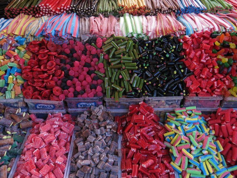 Mountains of Candy at Machene Yehuda Market, Courtesy of Laini Shaw