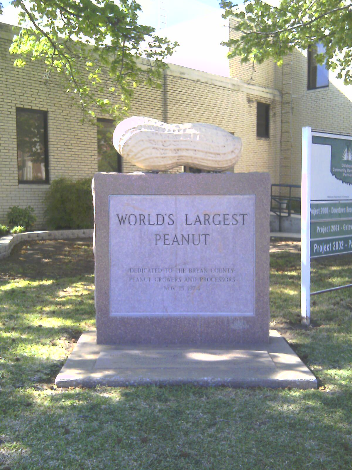 World's Largest Peanut monument in Durant | © Chefbrad66/WikiCommons