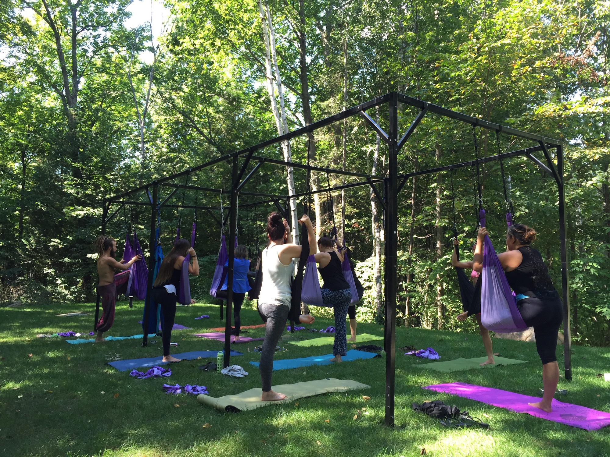 Outdoor studio | Courtesy of Float Suspension Yoga