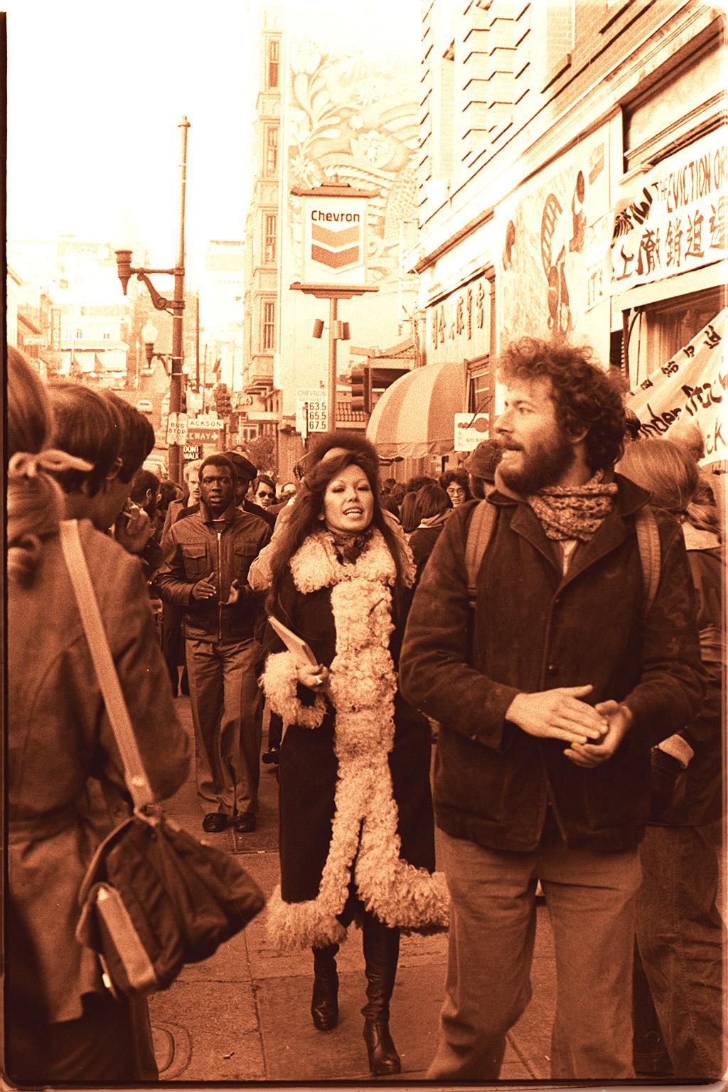 1977 — Janice Mirikitani at San Francisco eviction protest | © Nancy Wong/WikiCommons