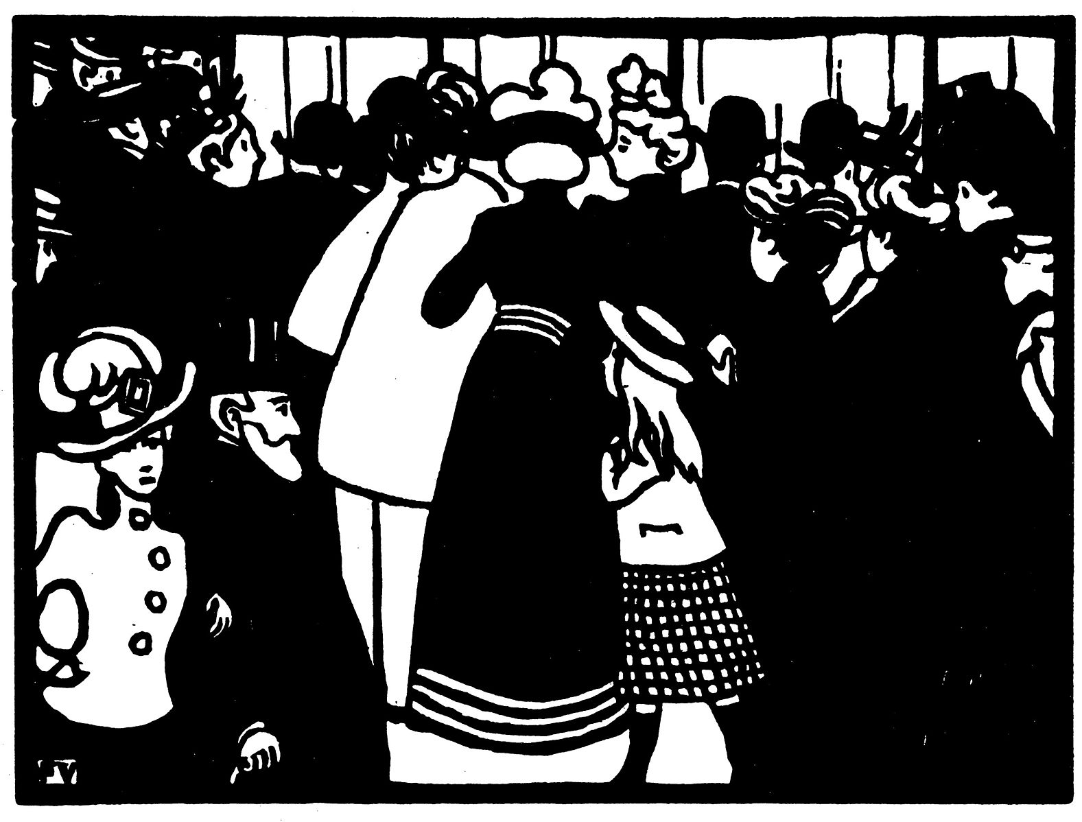 'La vitrine de Lalique' woodcut by Félix Vallotton, 1901 I © Cyrille Largillier / WikiCommons
