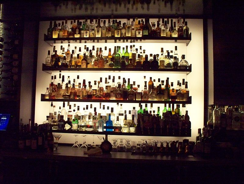 Liquor bottles on wall| ©CWS_Montag/Wikicommons
