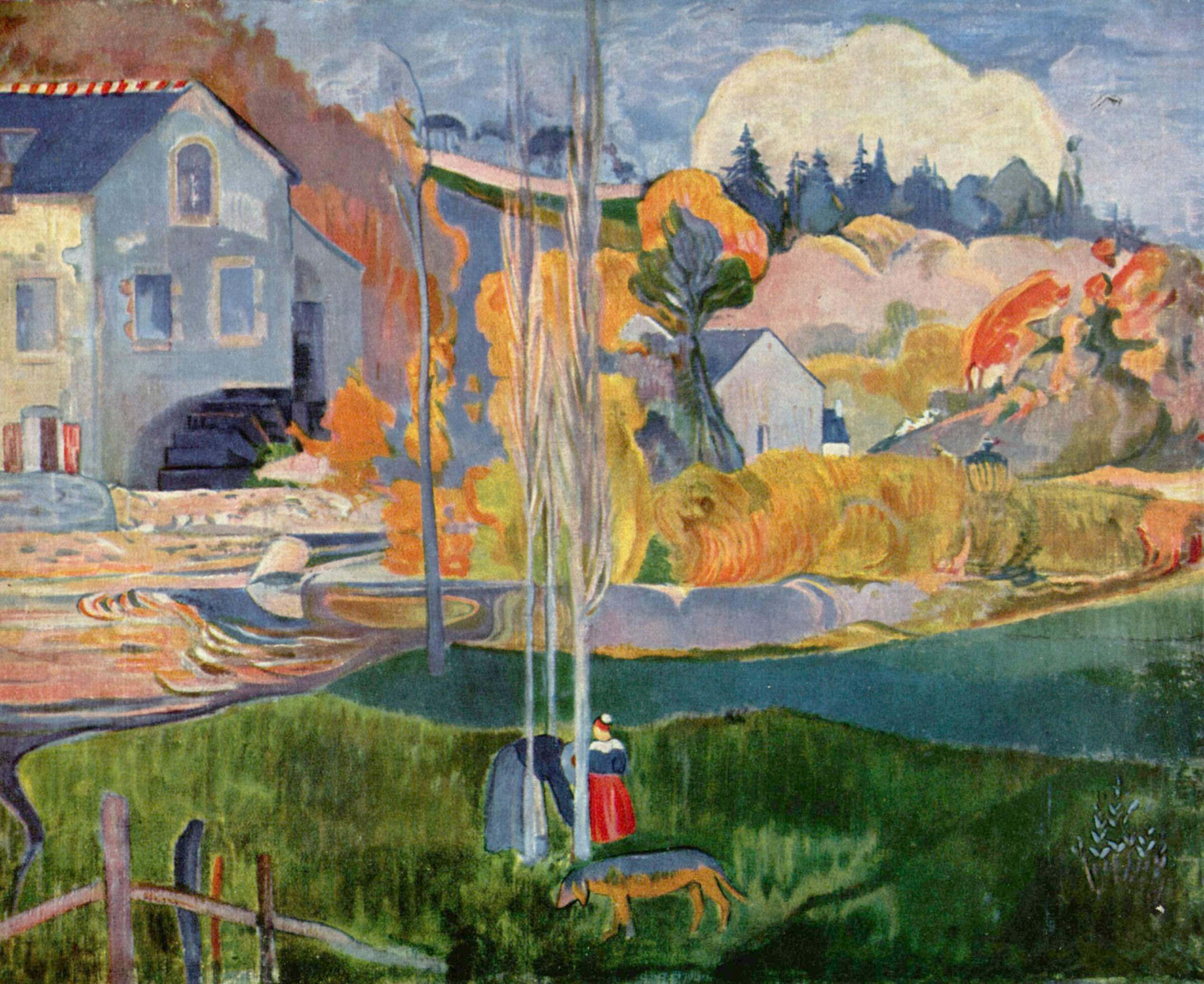Paul Gauguin - The David Mill in Pont-Aven © WikiCommons