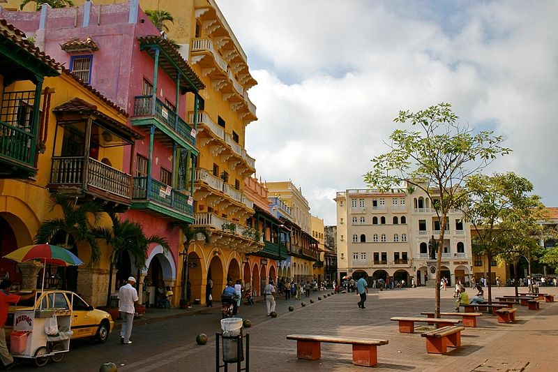 Plaza@Cartagena © WikiCommons