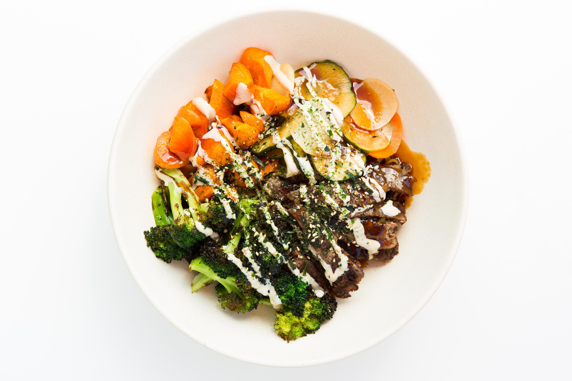 Ramen, Steak, Vegs, Sauce and Seasoning  Courtesy of Dragon Bowl