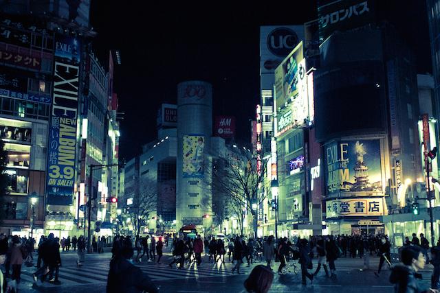 Shibuya Crossing at Night|©Silver Hage/Flickr