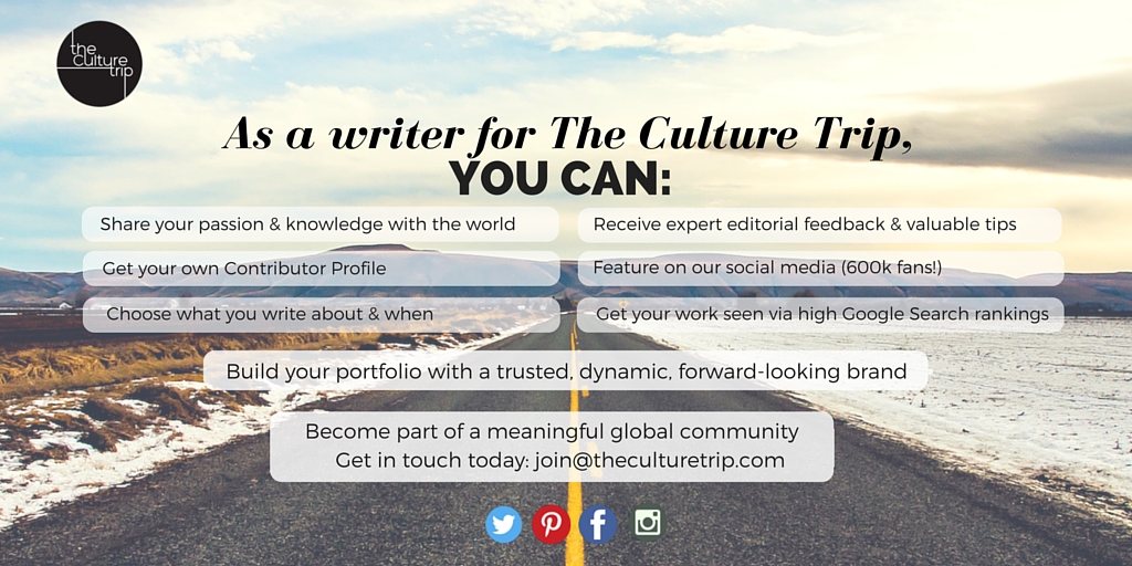 Write For The Culture Trip