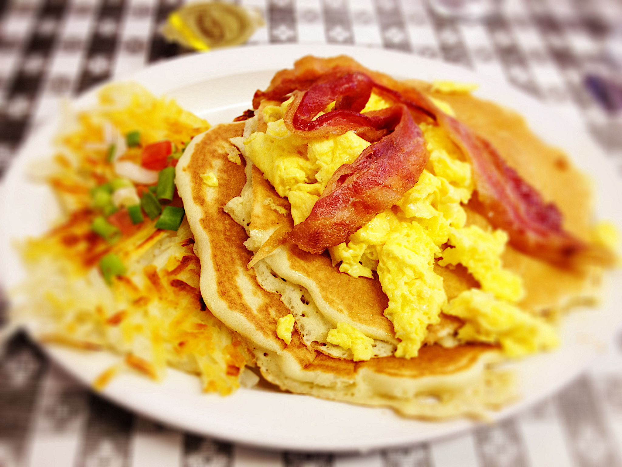 pancake and bacon breakfast - photo #26